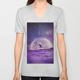 balance boy moonlight Unisex V-Neck