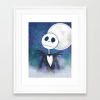 jack skellington Framed Art Prints featuring Jack Skellington by MythicPhoenix