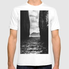 Diverge MEDIUM White Mens Fitted Tee