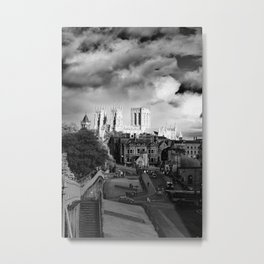 York Minster and walls in the sun Metal Print