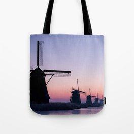 Windmills at Sunrise II Tote Bag