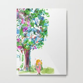 Princess and the tree Metal Print