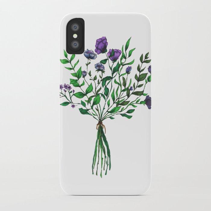 Purple Wildflower Bunch iPhone Case by caseyv  Society6
