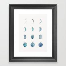 Moon Phases - Light Framed Art Print