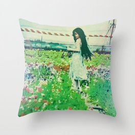 """A Flower Does Not Think Of Competing To The Flower Next To It. It Just Blooms"" Throw Pillow"