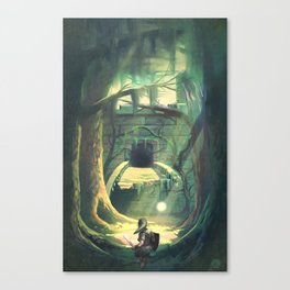 Forest Temple Canvas Print