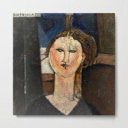 "Amedeo Modigliani ""Antonia"" Metal Print"