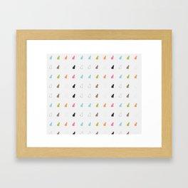 cat pattern#2 Framed Art Print