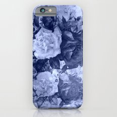 old roses in light blue Slim Case iPhone 6s