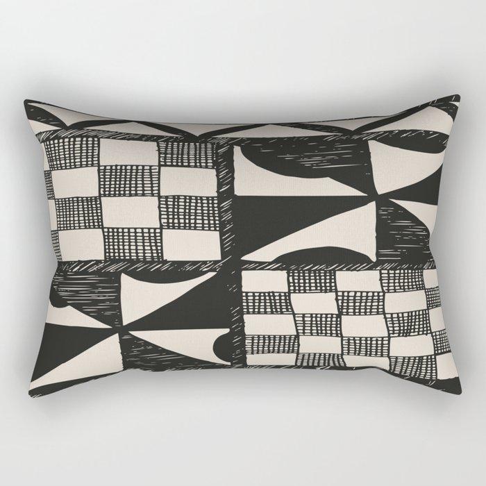 Tapa Cloth   Pacifica Patterns   Tribal Art Rectangular Pillow