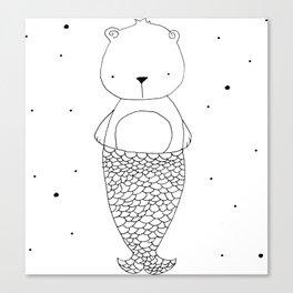 BearMaid illustration Canvas Print