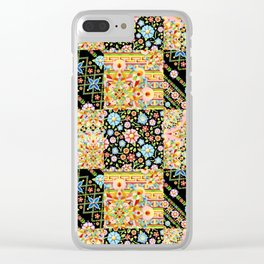 Crazy Crazy Printed Patchwork Clear iPhone Case
