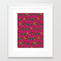 india Framed Art Prints featuring India by cactus studio