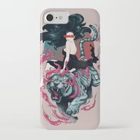 beauty and the beast iPhone & iPod Cases featuring Beauty and the Beast by Artemple