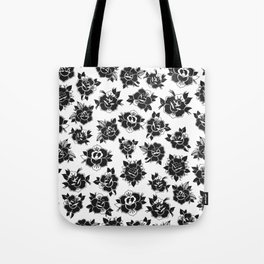 Traditional Roses Pattern Tote Bag