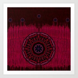 Leather landscape abstracte Art Print