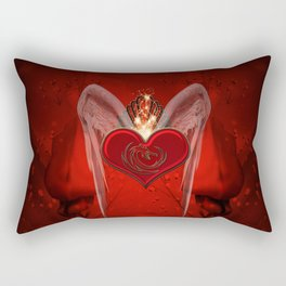 Wonderful heart with wings and dragon Rectangular Pillow