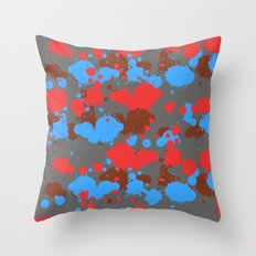color dripping Throw Pillow