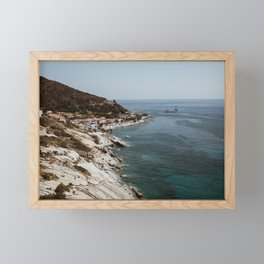 Travel photography - Coast Elba, Italy - horizontal Framed Mini Art Print