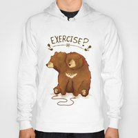 fitness Hoodies featuring Fitness Bear by sociopteryx