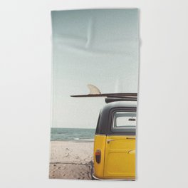 Surfing time Beach Towel