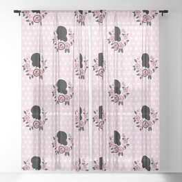Silhouette of Marinette Sheer Curtain