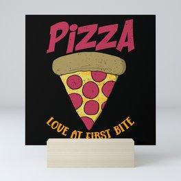 Pizza Eat Love Fast Food Mini Art Print