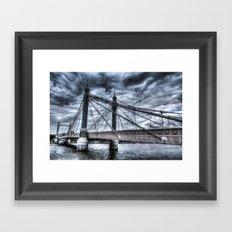 The Albert Bridge London  Framed Art Print