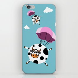 flying cows iPhone Skin