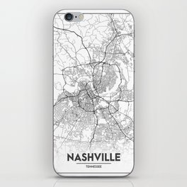 Minimal City Maps - Map Of Nashville, Tennessee, United States iPhone Skin