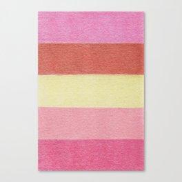 Summer Flowers Color Blocks - Color Palette No 4 Canvas Print
