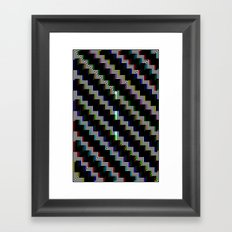 Pixel Bend Framed Art Print