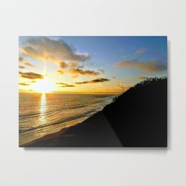 Coastal Last Light Metal Print