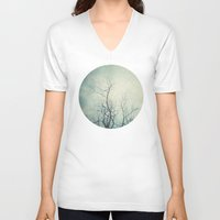 poem V-neck T-shirts featuring Winter Poem  by Laura Ruth