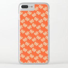 Butterflies orange Clear iPhone Case
