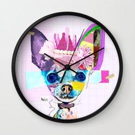 Colorful Dog Art Chihuahua Wall Clock