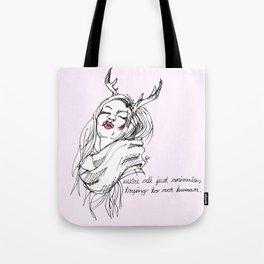 humane (pink) Tote Bag