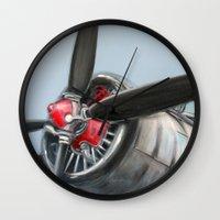 airplane Wall Clocks featuring Airplane by Renato Verzaro
