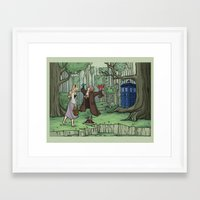 hallion Framed Art Prints featuring Visions are Seldom all They Seem by Karen Hallion Illustrations