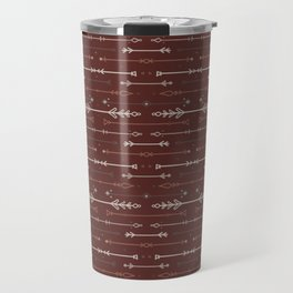 Scandi-Sticks A - Horizontal - Terracotta Travel Mug