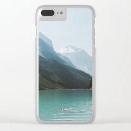 Lake Louise Swim Clear iPhone Case