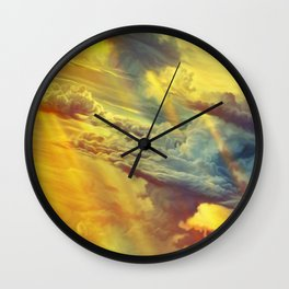 Flying in height Wall Clock