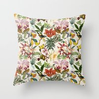 botanical Throw Pillows featuring Botanical by Bambouchic