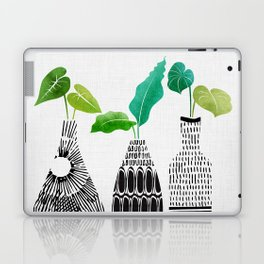Black and White Tribal Vases Laptop & iPad Skin