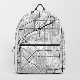 Fort Worth Map White Backpack