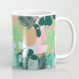 Modern Pink Mint Tropical Foliage Creative design Coffee Mug