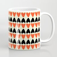 hearts Mugs featuring HEARTS by d.ts