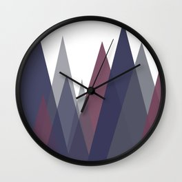Triple color abstract landscape Wall Clock