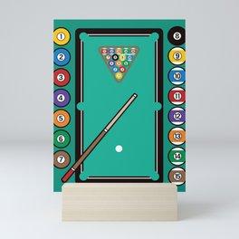 Billiards Table and Equipment Mini Art Print