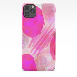 Pink Abstract Pattern iPhone Case